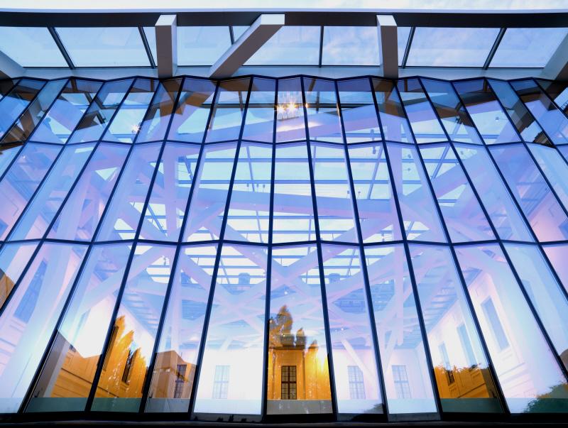 Glashof des Jüdischen Museums Berlin